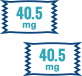 40.5 and 40.5 mg AndroGel packet icons